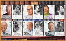 Australian Legends of the Living Word, stamps