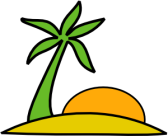 Island, Palm and Sun