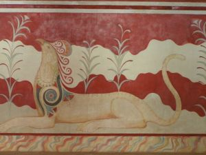 Griffin from Throne Room, Knossos