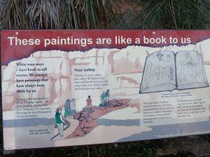 Sign re Jarwoyn Rock Art in Nitmiluk