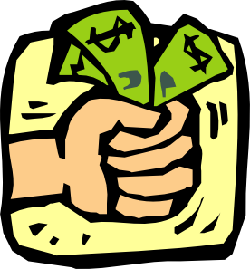 Fist full of money