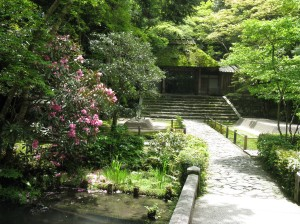 In the grounds of the Honen-In, Kyoto