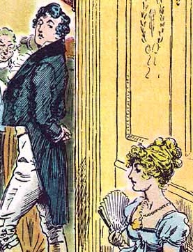 Jane Austen's Mr Darcy, illustration by CE Brock