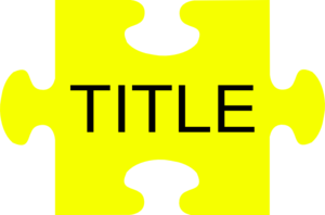 Title Puzzle Clker M