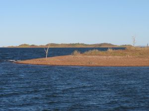 Lake Argyle with Crocodile