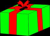 Wrapped Gift (Courtesy OCAL, via clker.com)