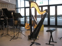 Griffyn Ensemble set up, Belconnen Arts Centre