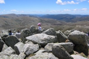 From the top of Mt Kosciuszko