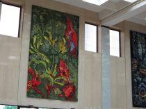 Parrot tapestry, NLA foyer