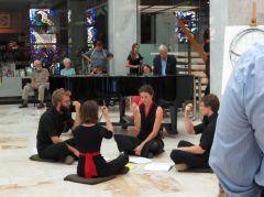 Quartet performing John Gage's A story
