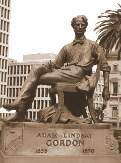 Adam Lindsay Gordon monument (Courtesy VirtualSteve, using CC-BY-SA 3.0, via Wikipedia)