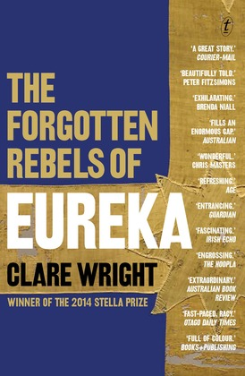 Book cover, The forgotten rebels of Eureka