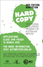HARDCOPY 2015 - Nonfiction Edition - open for applications