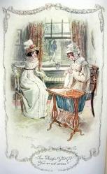 Illustration, Emma and Mrs Weston