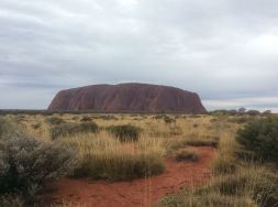 Uluru, on an unusually grey winter day