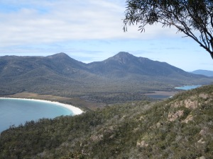 Winegalss Bay to the left, and Hazards Beach just visible to the right