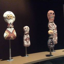 Bagu figures, contemporary objects from the Girringun Aboriginal Art Centre, Cardwell, north Queensland