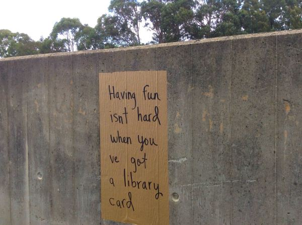 Library Card poster Nishi Car Park