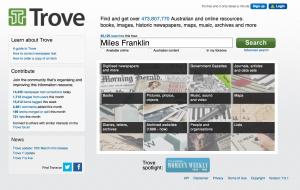Trove Search Page