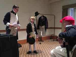 Napoleonic era British Naval Uniforms demonstrated