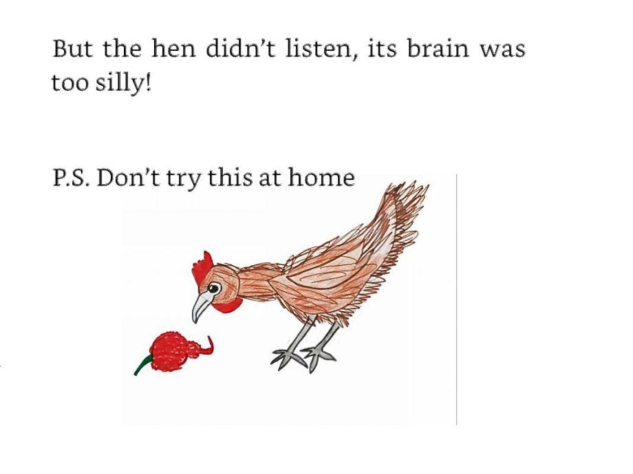 Leah A, Ten Silly Poems, hen image