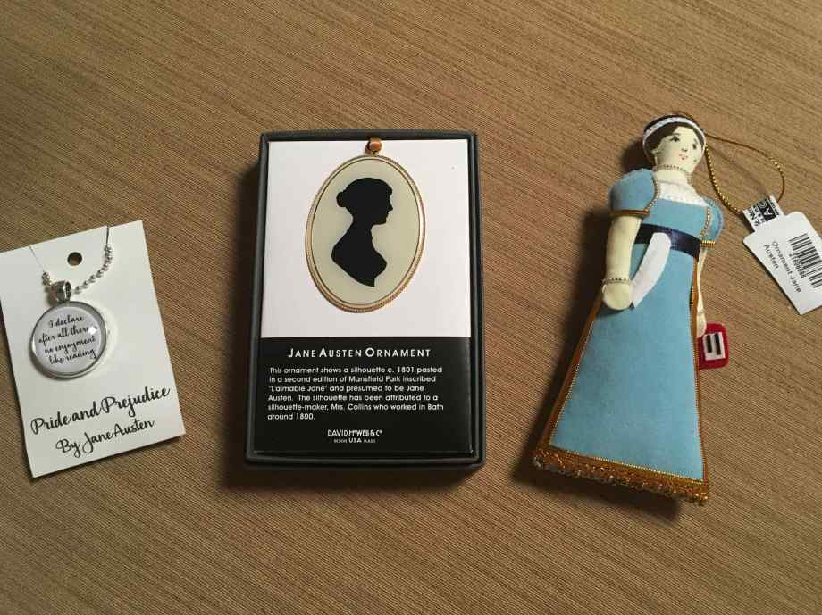 Jane Austen ornament and pendants