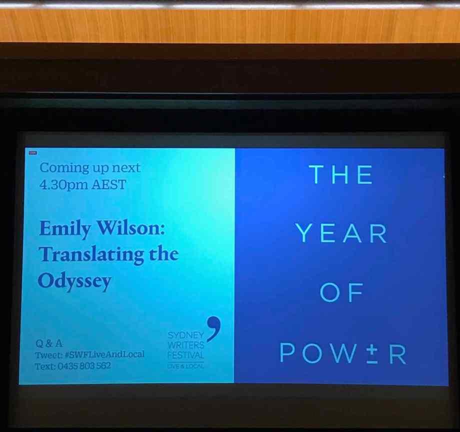 Sydney Writers Festival Emily Wilson banner