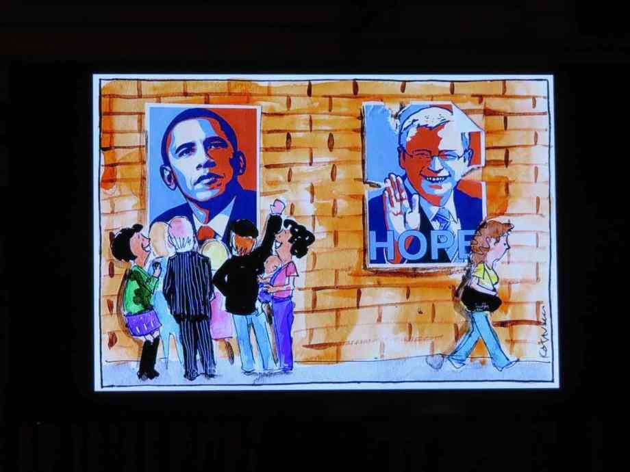 Fiona Katauskas, Obama and Rudd