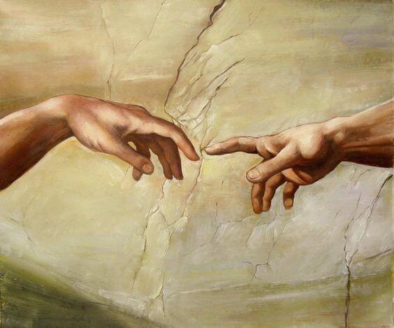 Detail of Michelangelo's Creation of Adam